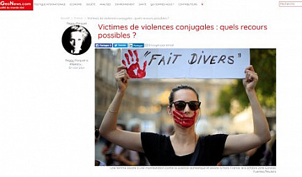 GlobalGeoNews / Victimes de violences conjugales : quels recours possibles ?